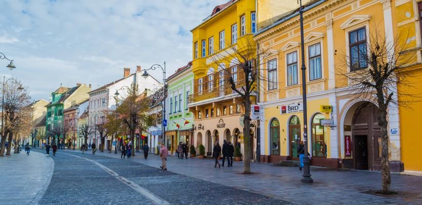 The beautiful city of Sibiu, Romania