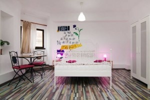 Double room at the The Charming Little Bucharest Hostel