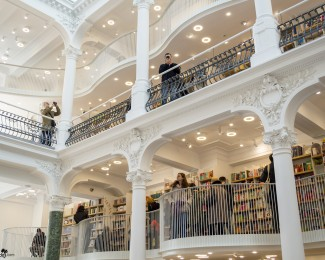 Carturesti Carusel is the most beautiful bookstore in Bucharest, located in the heart of the city, on a historical street from the Old Town