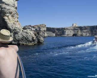The Blue Lagoon caves from Comino, Malta