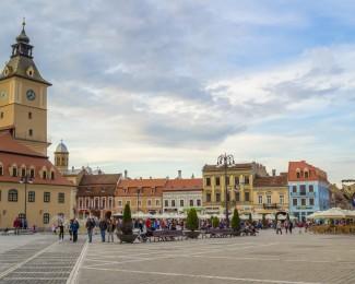 The Council Square from Brasov, Romania