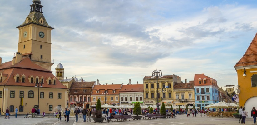 The Council Square from Brasov, Romania