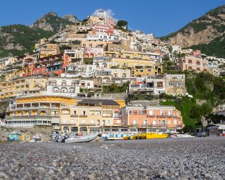 The main beach of Positano