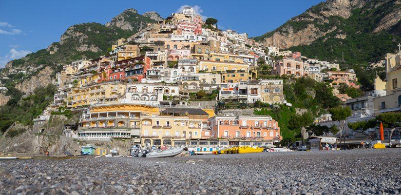 The main beach of Positano