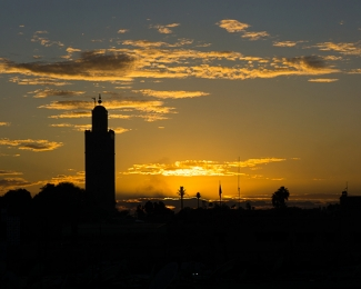Sunset in Marrakech, Morocco