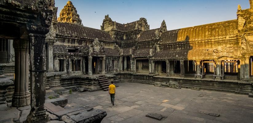 The beautiful Angkok Wat temple
