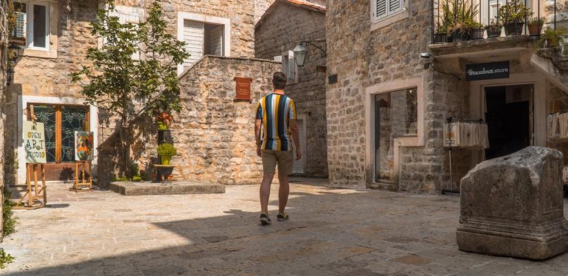 Alley of Budva, Montenegro